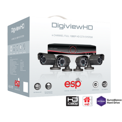 ESP 4 Camera Full HD CCTV System Kit
