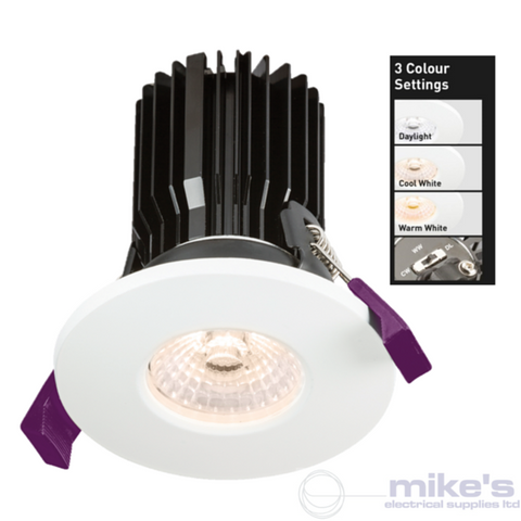 ML Accessories Knightsbridge 8W LED IP65 Fire Rated Adjustable Colour Temperature Downlight