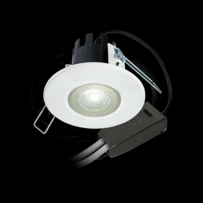 Collingwood Halers H2 Lite T 3000k LED Mains Dimmable IP65 Downlight White