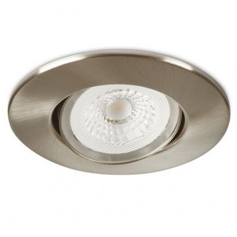 Collingwood Halers H4 Lite 3000k LED Mains Dimmable IP65 Downlight Brushed Chrome