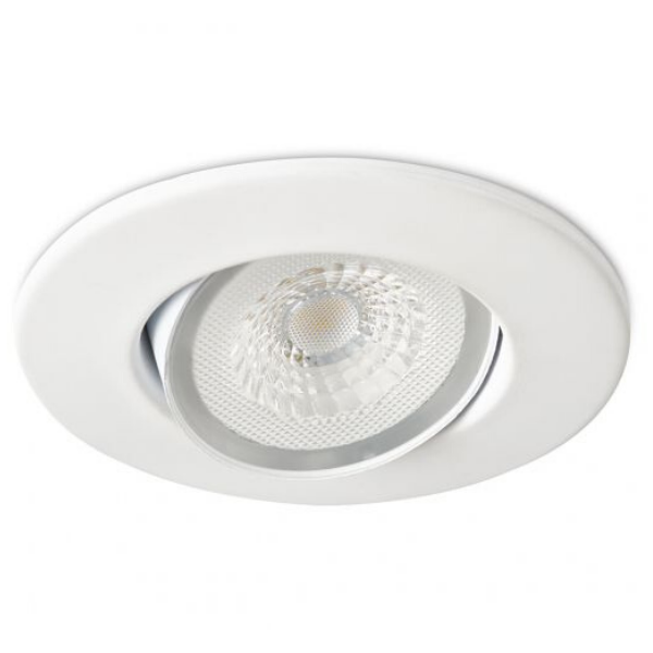 Collingwood Halers H4 Lite 3000k LED Mains Dimmable IP65 Downlight White