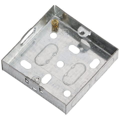 1 Gang 16mm Flush Metal Back Box