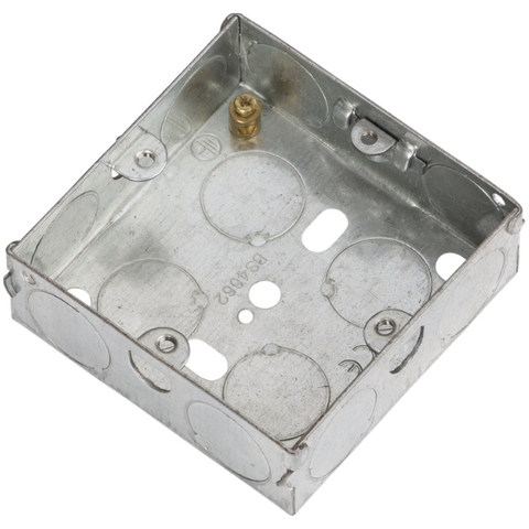 1 Gang 25mm Flush Metal Back Box