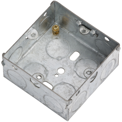 1 Gang 35mm Flush Metal Back Box