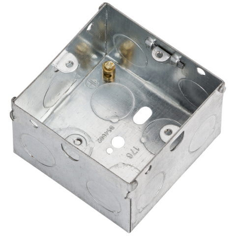 1 Gang 47mm Flush Metal Back Box