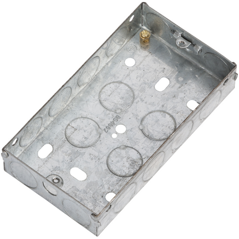2 Gang 25mm Flush Metal Back Box