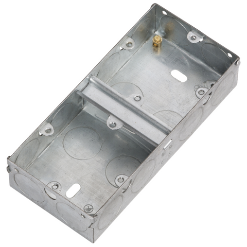 2 Gang 35mm Dual Flush Metal Back Box