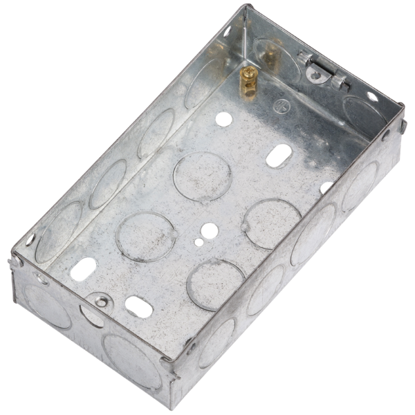 2 Gang 35mm Flush Metal Back Box