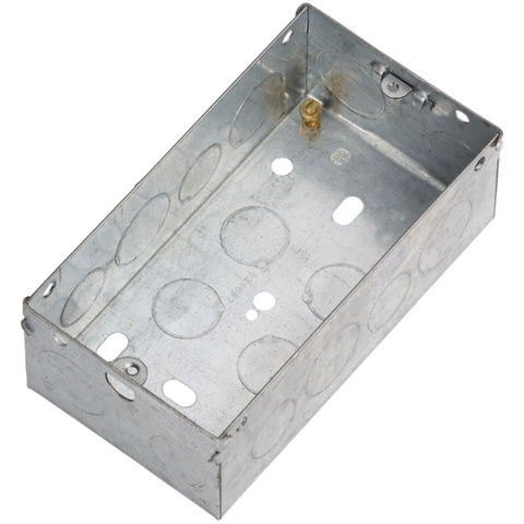 2 Gang 47mm Flush Metal Back Box