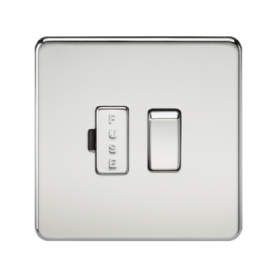 Knightsbridge Screwless 13A Switched Fused Connection Unit - Polished Chrome