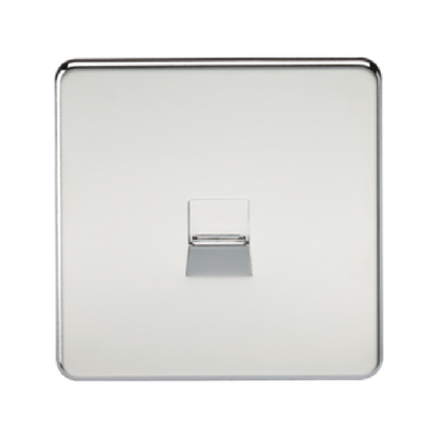 Knightsbridge Screwless Telephone Master Socket - Polished Chrome