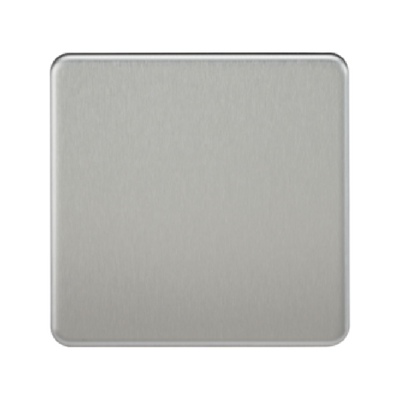 Knightsbridge Screwless 1 Gang Blanking Plate - Brushed Chrome