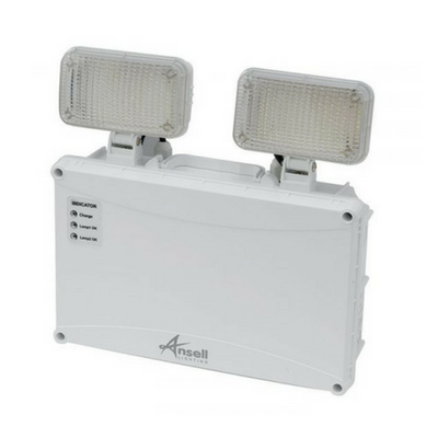 Ansell Owl LED Twin Spot Non-Maintained 5W White IP65