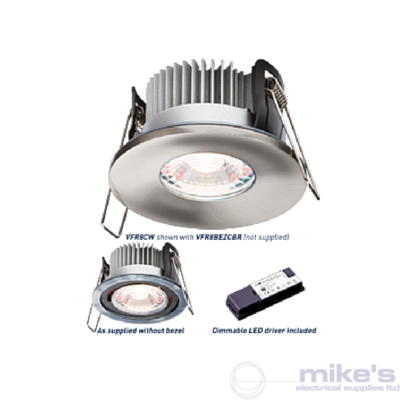 ML Accessories Knightsbridge ProKnight Fixed Fire Rated Shower Downlight