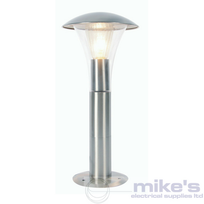 Forum Omega Outdoor Fluted Post Lantern Stainless Steel