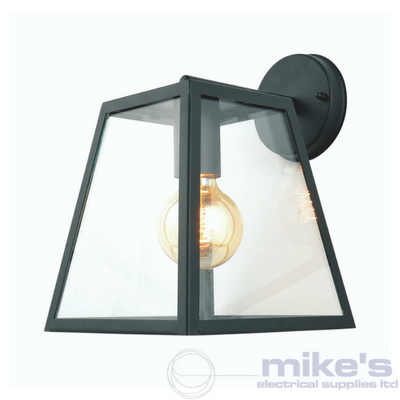 Forum Atlas Outdoor Box Wall Lantern Black