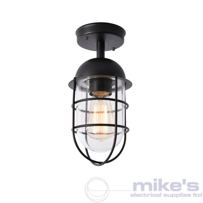 Forum Kari Outdoor Flush Lantern Black