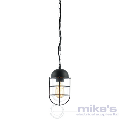 Forum Kari Outdoor Hanging Lantern Black