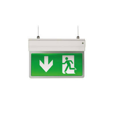 Ansell Eagle 3-In-1 LED Exit Sign Maintained / Non-Maintained 2.5W Silver