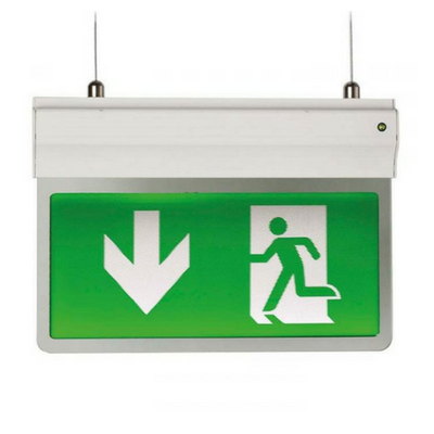 Ansell Eagle 3-In-1 LED Exit Sign Self test Maintained / Non-Maintained 2.5W White