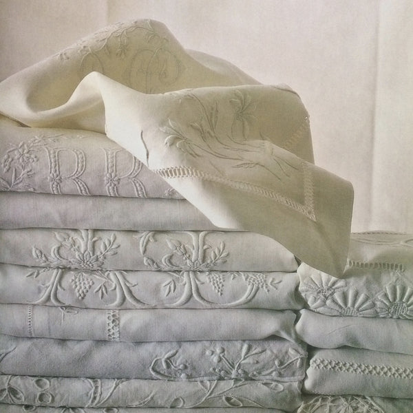 Monogram Linen Pillowcases, the comeback of the Trousseau