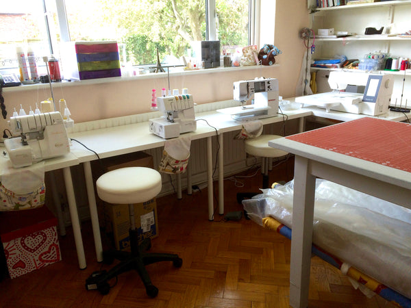Linen and Letters Sewing Room
