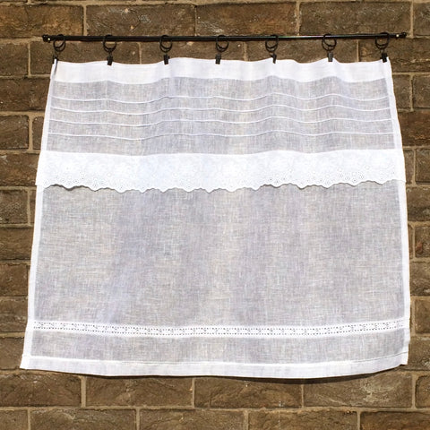Linen lace curtain