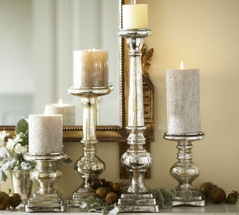 Tall Gold Candles