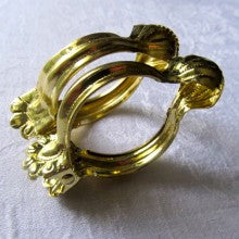 Hatched in France Gold Claw Clip Rings
