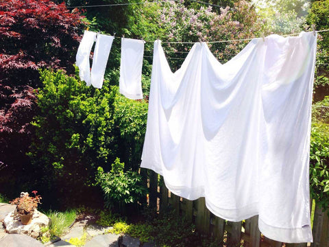 Linen drying in the sun