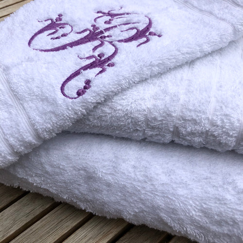 Monogram Embroidered Bathroom Towel