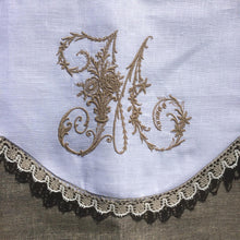 Load image into Gallery viewer, Victorian Monogram Window Valance