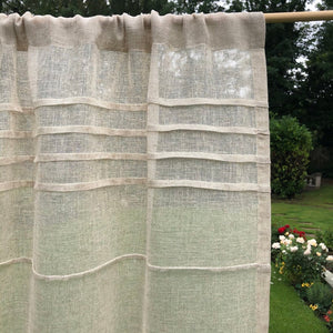 Natural sheer linen door curtain for Privacy