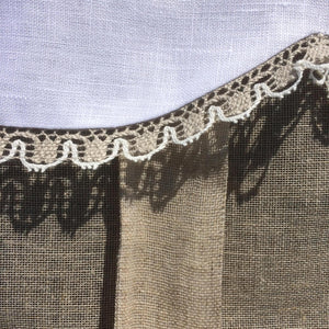 Victorian Monogram Window Valance