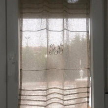 Load image into Gallery viewer, Natural sheer linen door curtain for Privacy