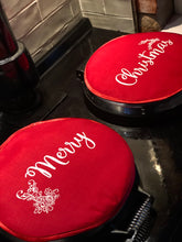 Load image into Gallery viewer, Pair Merry Christmas Red Aga Lid Covers