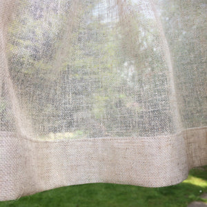 Sheer Linen Looped Panel