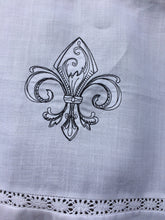 Load image into Gallery viewer, Vintage Fleur de Lis Tie Up Valance