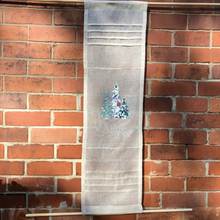Load image into Gallery viewer, Christmas Sheer  Linen Front Door Curtain, Sidelight