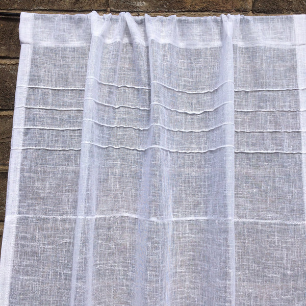 Door Curtain - Linen Sidelight Sheer Door Curtain Window Double Rod Pocket