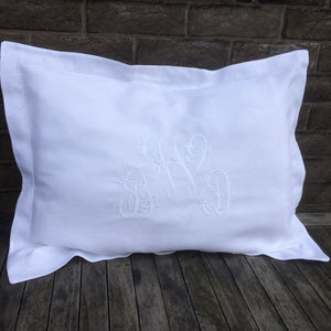 Pillowcase with Centre Embroidery
