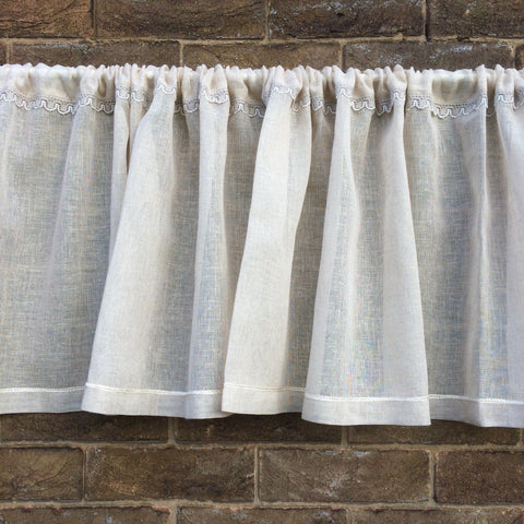 Sheer Linen Lace Valance