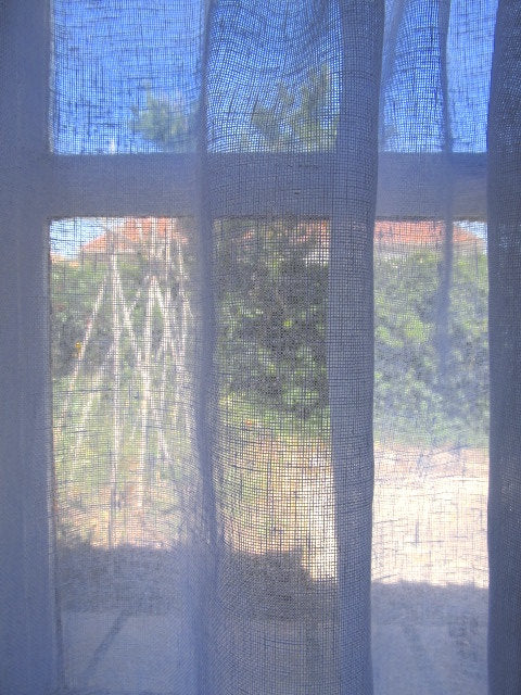 Sheer Linen Panel with Curtain Tape