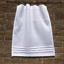 Load image into Gallery viewer, Pure Linen Custom Cafe Curtain, White Kitchen, Bathroom