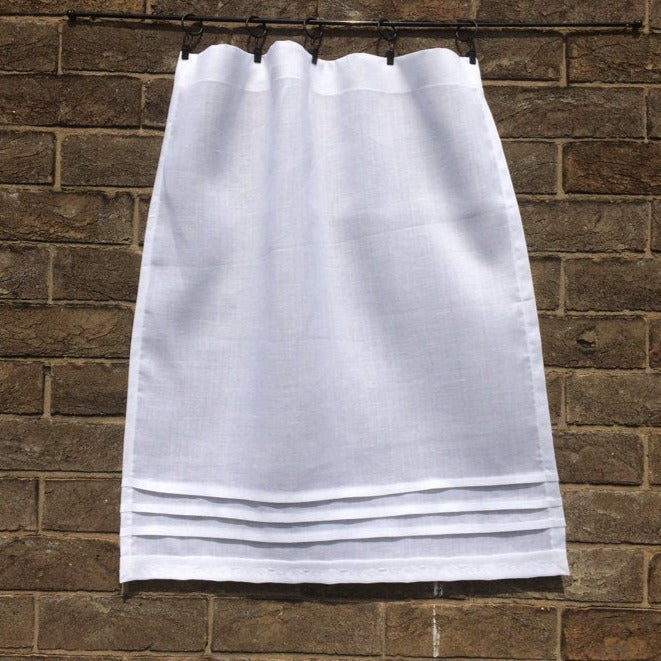 Pure Linen Custom Cafe Curtain, White Kitchen, Bathroom