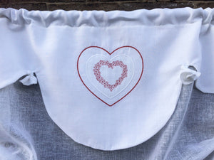 Heart Tie Up Valance