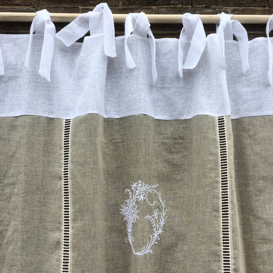 Tie Top Lace Curtain