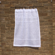 Load image into Gallery viewer, Sheer White Linen Panel, Bathroom Curtain, Shabby Chic Curtain