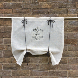 Sheer Natural French Kitchen Valance