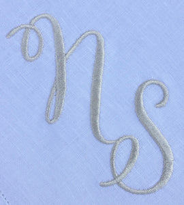 Hemstitched Tablecloth with Gold Monogram
